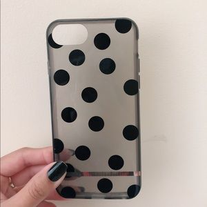 Black polka dots iPhone 6-8 soft case